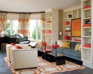Adorable burnt orange and teal living room ideas 02