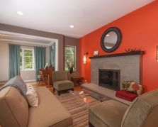 Adorable burnt orange and teal living room ideas 07