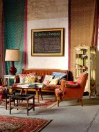 Adorable burnt orange and teal living room ideas 22
