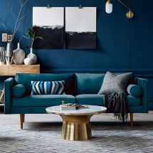 Adorable burnt orange and teal living room ideas 31