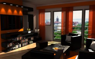 Adorable burnt orange and teal living room ideas 42