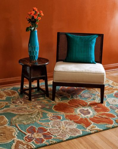 Adorable burnt orange and teal living room ideas 43