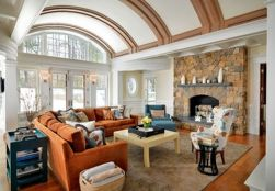 Adorable burnt orange and teal living room ideas 47