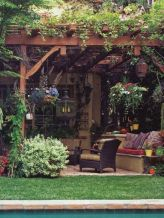 Adorable small patio garden design ideas 22