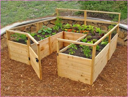 Affordable backyard vegetable garden designs ideas 10