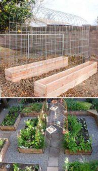 Affordable backyard vegetable garden designs ideas 28