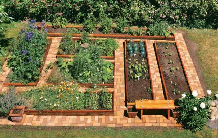 Affordable backyard vegetable garden designs ideas 32
