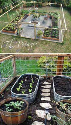 Affordable backyard vegetable garden designs ideas 57