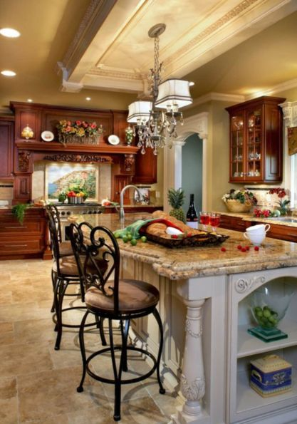 Amazing cream and dark wood kitchens ideas 01