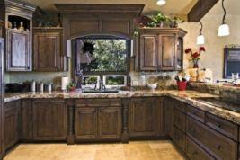 Amazing cream and dark wood kitchens ideas 02