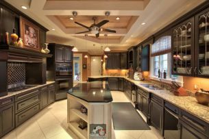 Amazing cream and dark wood kitchens ideas 03