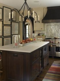 Amazing cream and dark wood kitchens ideas 09