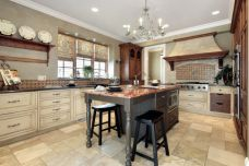 Amazing cream and dark wood kitchens ideas 32