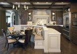 Amazing cream and dark wood kitchens ideas 43