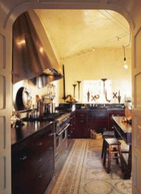 Amazing cream and dark wood kitchens ideas 50