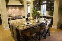 Amazing cream and dark wood kitchens ideas 61