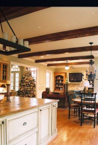 Amazing cream and dark wood kitchens ideas 72