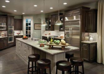 Amazing cream and dark wood kitchens ideas 73