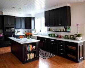 Amazing cream and dark wood kitchens ideas 74