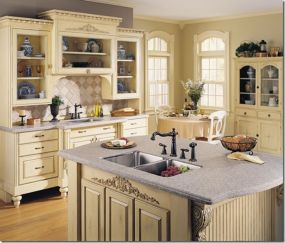 Amazing cream and dark wood kitchens ideas 77