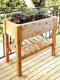 Amazing wooden garden planters ideas you should try 14