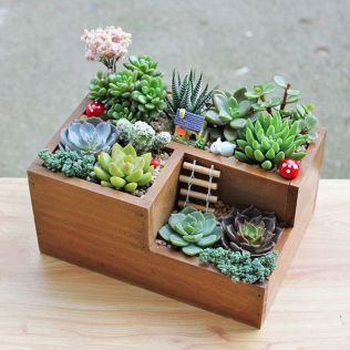 Amazing wooden garden planters ideas you should try 54