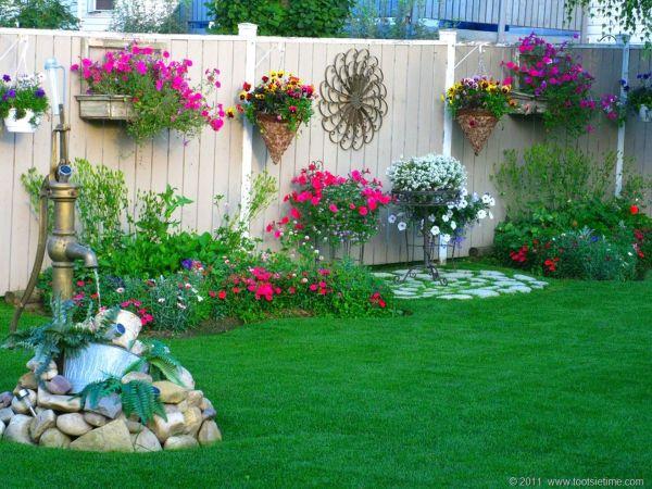 beautiful flower garden decor