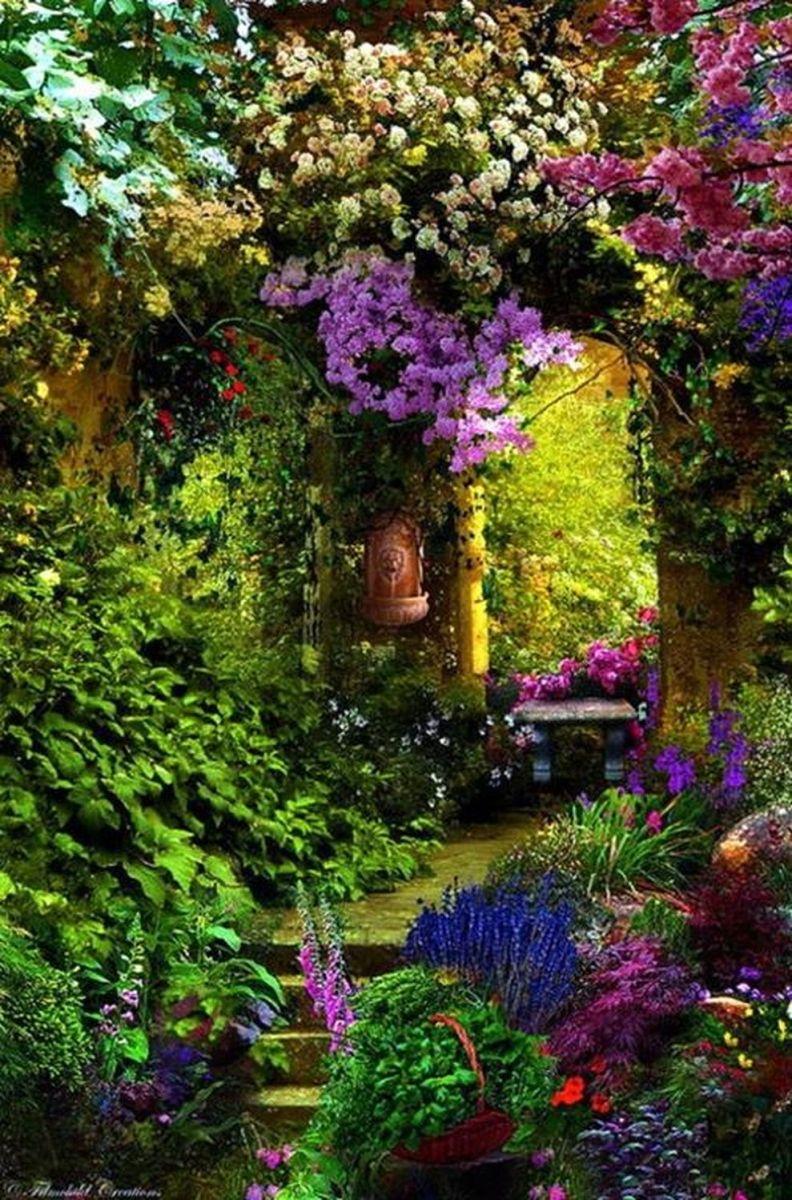 Beautiful french cottage garden design ideas 18