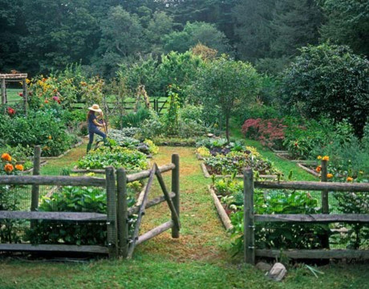Beautiful french cottage garden design ideas 38