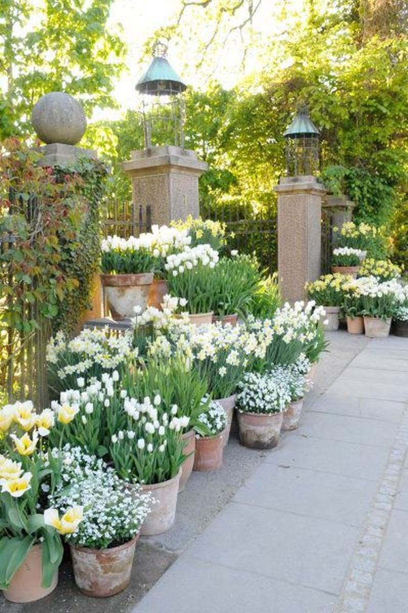 Beautiful french cottage garden design ideas 45