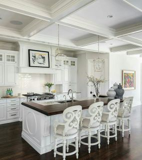 Beautiful hampton style kitchen designs ideas 11