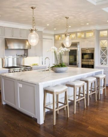 Beautiful hampton style kitchen designs ideas 14