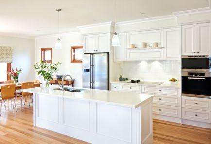 50 Beautiful Hampton Style Kitchen Designs Ideas - Round Decor