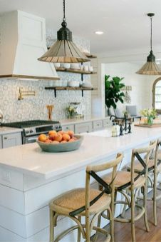 Beautiful hampton style kitchen designs ideas 17