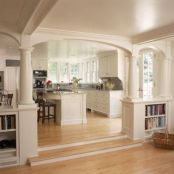 Beautiful hampton style kitchen designs ideas 23