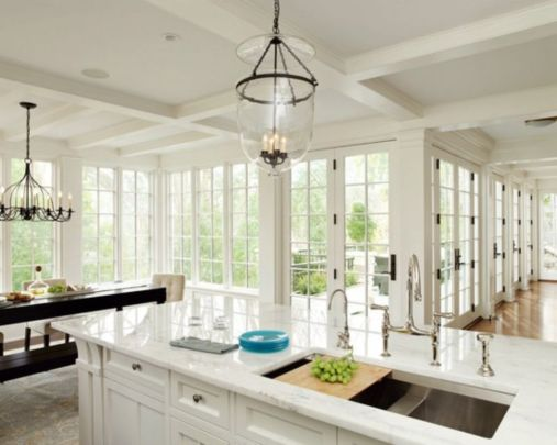 Beautiful hampton style kitchen designs ideas 24
