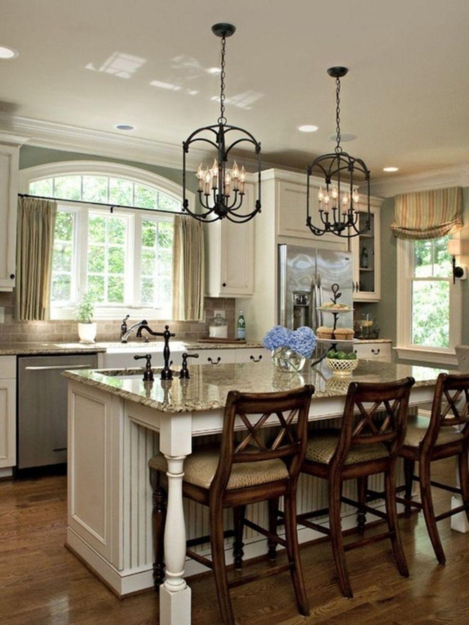 Beautiful hampton style kitchen designs ideas 25