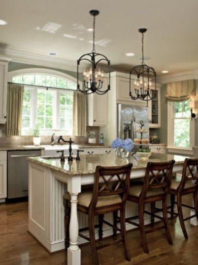 Beautiful hampton style kitchen designs ideas 25