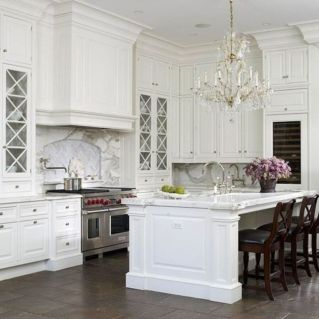 Beautiful hampton style kitchen designs ideas 26