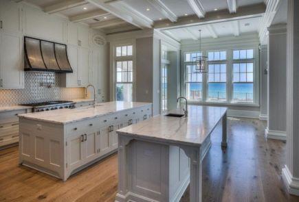 Beautiful hampton style kitchen designs ideas 32
