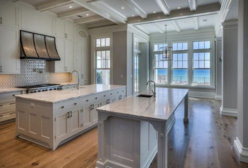 Beautiful hampton style kitchen designs ideas 32