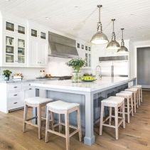 Beautiful hampton style kitchen designs ideas 34