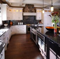 Beautiful kitchens ideas with black granite 13