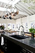 Beautiful kitchens ideas with black granite 15
