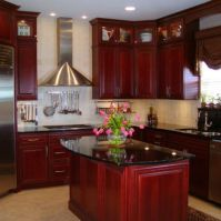 Beautiful kitchens ideas with black granite 45