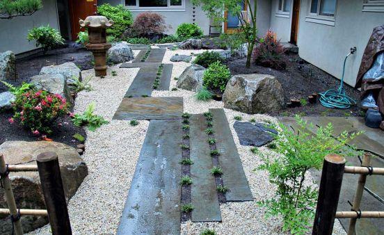 Beautiful modern japanese garden landscape ideas 54