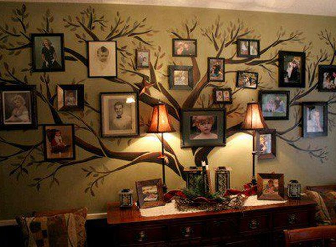 Cool decorating ideas for large living room wall 07