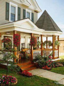 Creative front porch garden design ideas 07