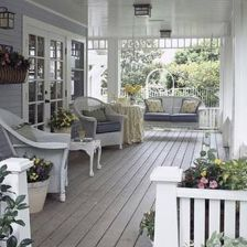 Creative front porch garden design ideas 29