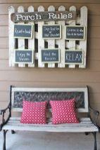 Creative front porch garden design ideas 47